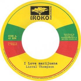 "(7"") LINVAL THOMPSON - I LOVE MARIJUANA / JAMAICAN CALLEY"