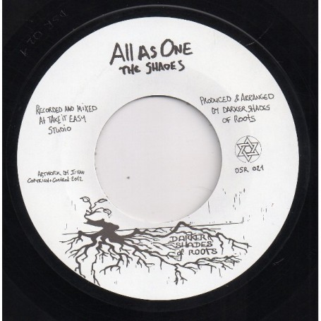 "(7"") THE SHADES - ALL AS ONE / TRODDING AND LEARNING"