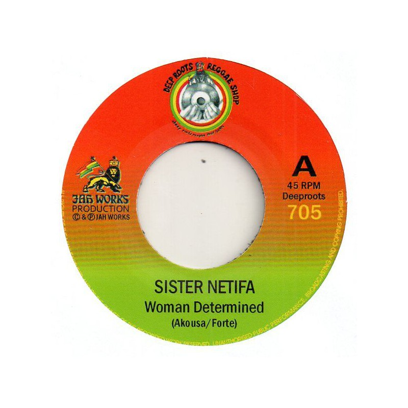 "(7"") SISTER NETIFA - WOMAN DETERMINED / JAH REJ - MASIMBA"