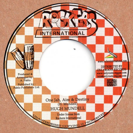"(7"") HUGH MUNDELL - ONE JAH, AIM & DESTINY / ROCKERS ALL STARS - NICE UP THE WORLD"