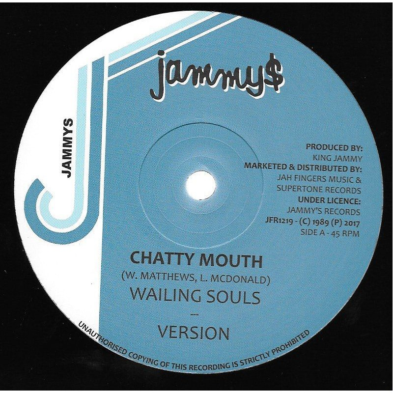 "(12"") WAILING SOULS - CHATTY MOUTH / DENNIS BROWN - NOW AND FOREVER"