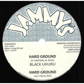 "(12"") BLACK UHURU - HARD GROUND / ALT. VOCAL MIX / DUB MIX / INSTRUMENTAL"