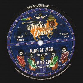"""(10"""") RAS MYKHA - KING OF ZION / MARION - STRINGS OF ZION"""