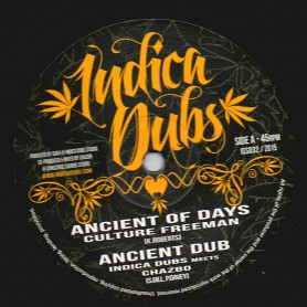 """(10"""") CULTURE FREEMAN - ANCIENT OF DAYS / INDICA DUBS MEETS CHAZBO - ANCIENT DUB"""