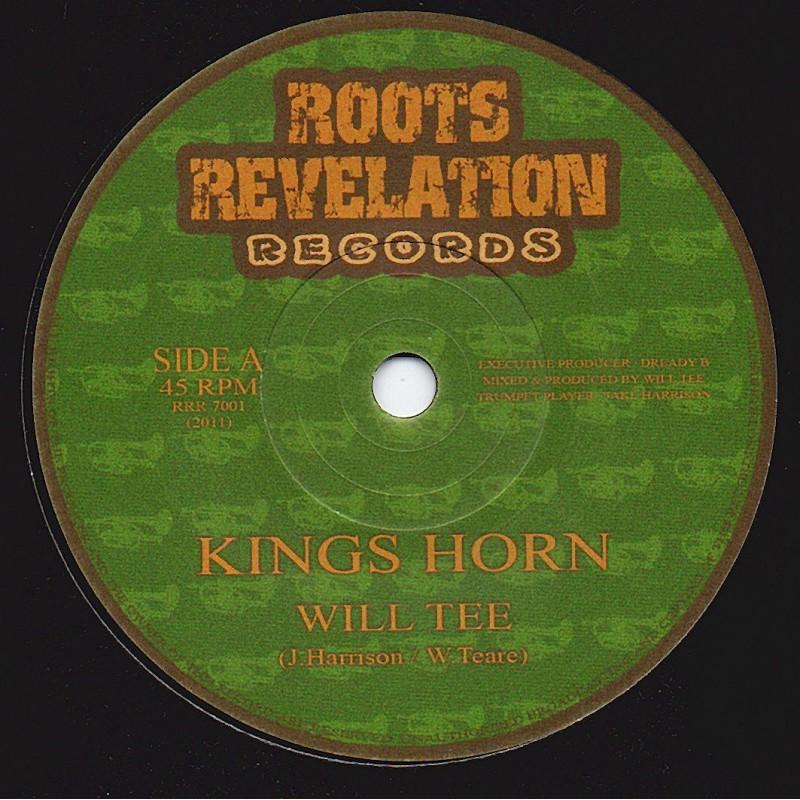 "(7"") WILL TEE - KINGS HORN / KINGS DUB"