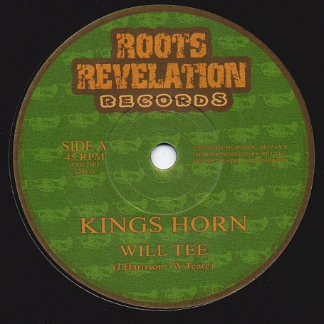 "(7"") WILL TEE - KINGS HORN / KINGS DUB"