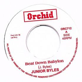 "(7"") JUNIOR BYLES - BEAT DOWN BABYLON / VERSION"