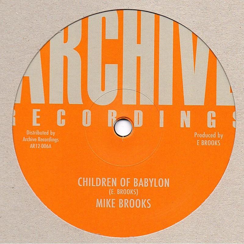 """(12"""") MIKE BROOKS - CHILDREN OF BABYLON / VERSION"""