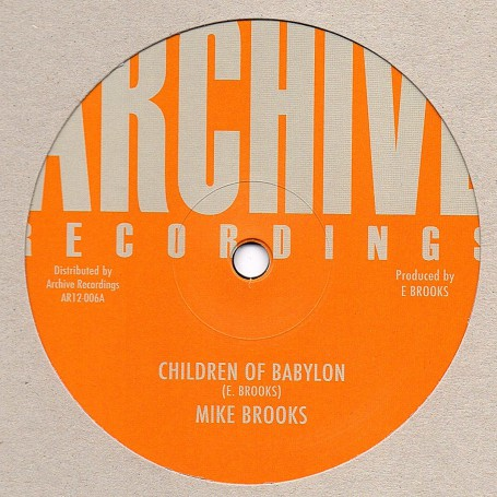 "(12"") MIKE BROOKS - CHILDREN OF BABYLON / VERSION"