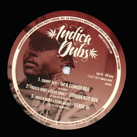 "(12"") DANNY RED - I & I CONQUEROR / INDICA DUBS & ECHO VAULT - MIGHTY WARRIOR"