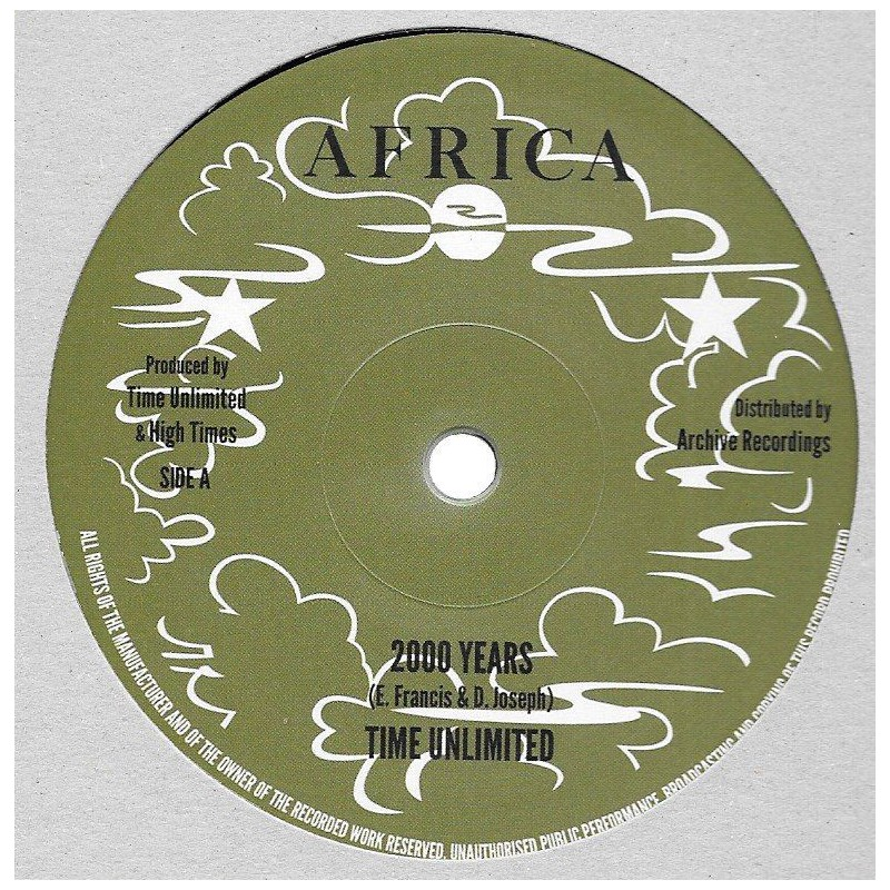 """(10"""") TIME UNLIMITED - 2000 YEARS / HIGH TIMES PLAYERS - VERSION"""