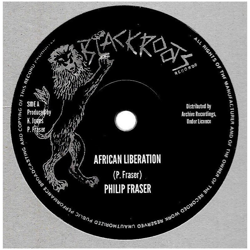 "(10"") PHILIP FRASER - AFRICAN LIBERATION / BLACK ROOTS PLAYERS - VERSION"