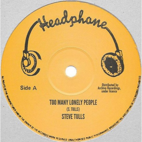 "(12"") STEVE TULLS - TOO MANY LONELY PEOPLE / BOOM BACK - ROAD BLOCK"