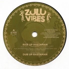 "(7"") DUB ARTILLERY FEAT SINGES VERTS - RISE UP RASTAMAN / DUB UP RASTAMAN"