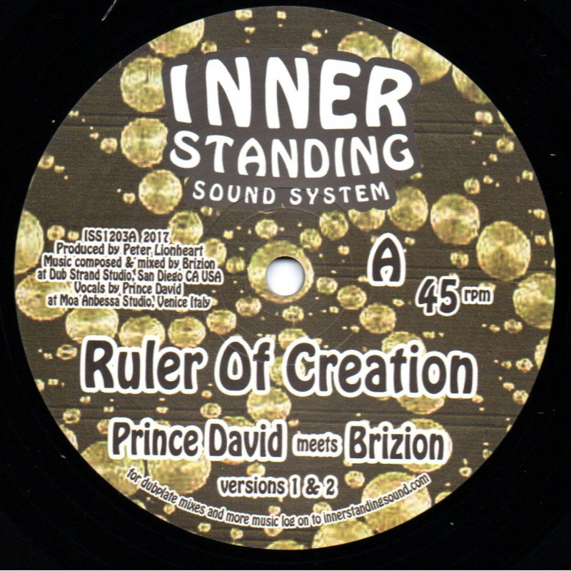 "(12"") PRINCE DAVID MEETS BRIZION - RULER OF CREATION / LUV FYAH MEETS BRIZION - DEYAH WITH JAH"