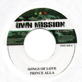 "(7"") PRINCE ALLA - SONGS OF LOVE"