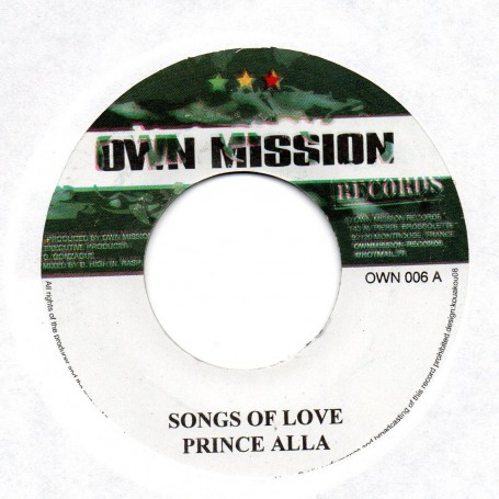 """(7"""") PRINCE ALLA - SONGS OF LOVE"""