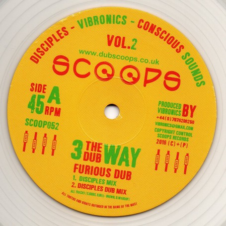 "(10"") 3 THE DUB WAY VOL.2 - FURIOUS DUB : CONSCIOUS SOUNDS, DISCIPLES & VIBRONICS"