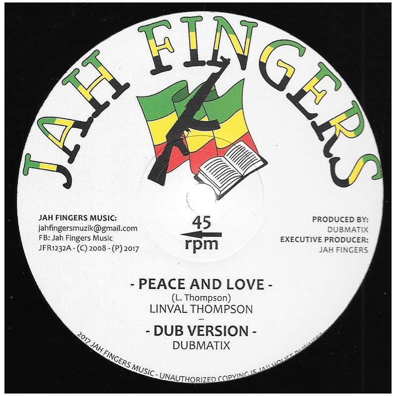 """(12"""") LINVAL THOMPSON - PEACE AND LOVE / HORACE ANDY - IT'S A CLASH"""