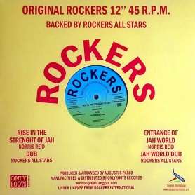 "(12"") NORRIS REID - RISE IN THE STRENGTH OF JAH (Extended) / ENTRANCE OF JAH WORLD / ROCKERS ALL STARS - JAH WORLD DUB"