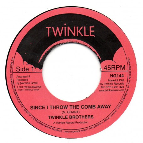 """(7"""") TWINKLE BROTHERS - SINCE I THROW THE COMB AWAY / DUB"""