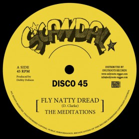 """(12"""") THE MEDITATIONS - FLY NATTY DREAD (Extended) / JUSTICE + VERSION"""