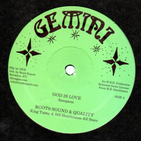 "(12"") SAMPSON - GOD IS LOVE - KING TUBBY & BILL HUTCHINSON ALL STARS - DRUMS OF LOVE"