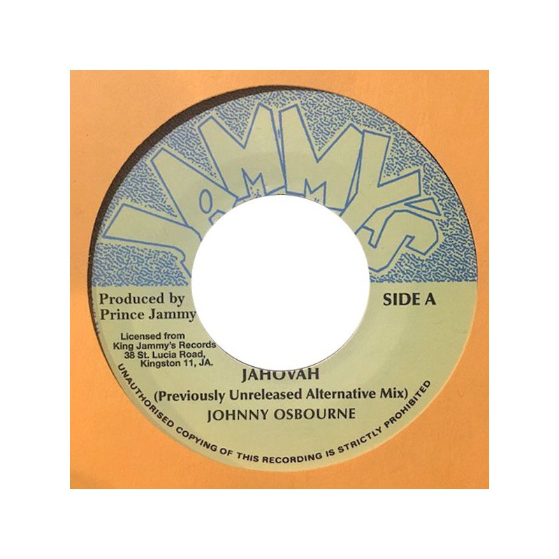 "(7"") JOHNNY OSBOURNE - JAHOVAH / JAHOVAH DUB (Previously Unreleased Alternative Mix)"