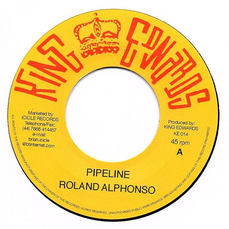 """(7"""") ROLANDO ALPHONSO - PIPELINE / DRUMBAGO - YOU'VE BEEN DRUNK"""