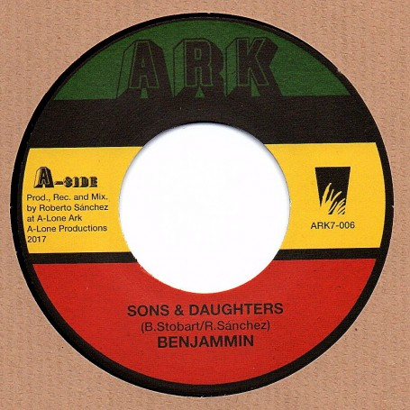 "(7"") BENJAMIN - SONS & DAUGHTERS / LONE ARK RIDDIM FORCE - DUB VERSION"