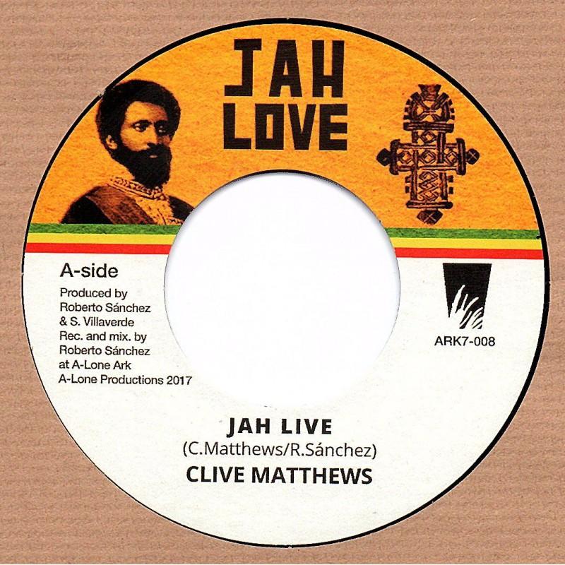 "(7"") CLIVE MATTHEWS - JAH LIVE / LONE ARK RIDDIM FORCE - WADADA VERSION"