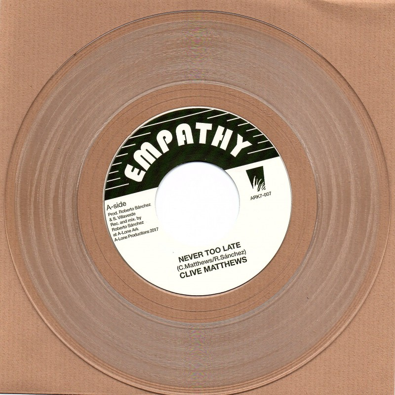 "(7"") CLIVE MATTHEWS - NEVER TOO LATE / LONE ARK RIDDIM FORCE - DUB VERSION"