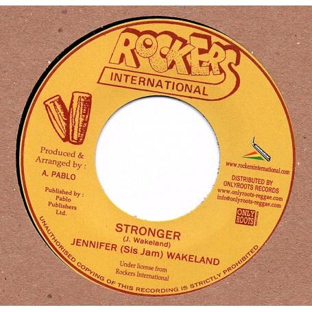 """(7"""") JENNIFER (SIS JAM) WAKELAND - STRONGER / VERSION"""