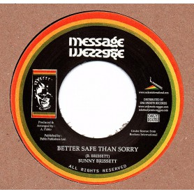 "(7"") BUNNY BRISSETT - BETTER SAFE THAN SORRY / ROCKERS ALL STARS - DUB"