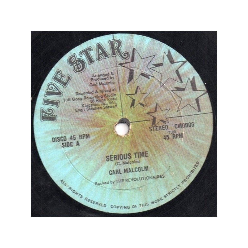 """(12"""") CARL MALCOLM - SERIOUS TIME / SCRATCH BACK"""