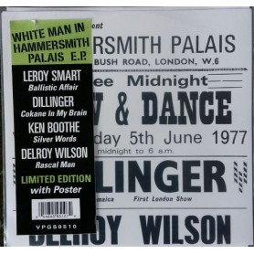 """(7"""") LEROY SMART / DILLINGER / KEN BOOTHE / DELROY WILSON - WHITE MAN AT HAMMERSMITH PALAIS EP"""