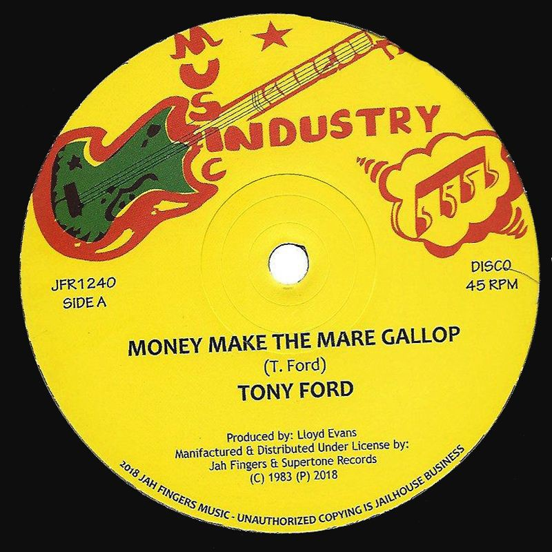 "(12"") TONY FORD - MONEY MAKE THE MARE GALLOP / THE ROOTS RADICS - VERSION"