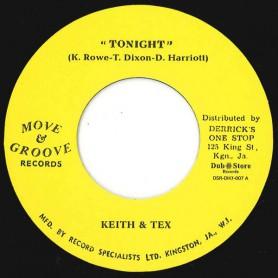 "(7"") KEITH & TEX - TONIGHT / LYNN TAITT & THE DESMOND MILES SEVEN - YOU'VE CAUGHT ME"