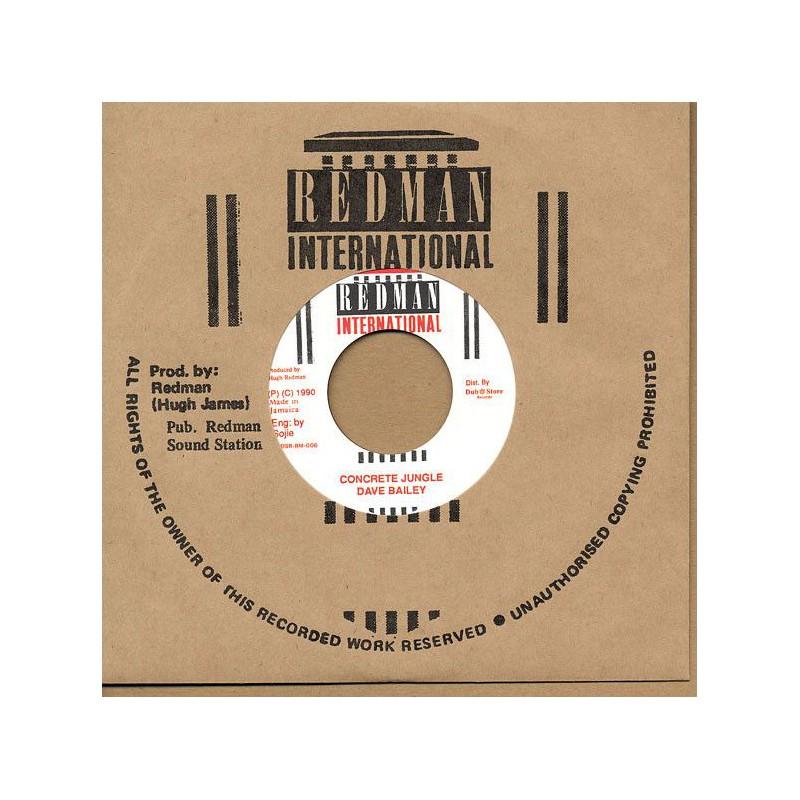 """(7"""") DAVE BAILEY - CONCRETE JUNGLE / STEELIE CLEVIE & DANNY - VERSION"""