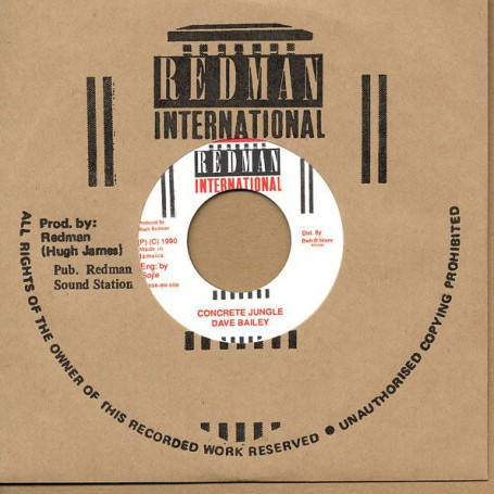 "(7"") DAVE BAILEY - CONCRETE JUNGLE / STEELIE CLEVIE & DANNY - VERSION"