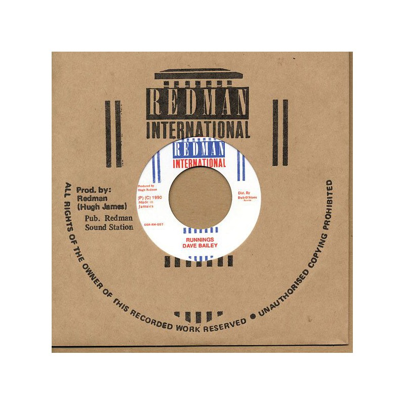 "(7"") DAVE BAILEY - RUNNINGS / STEELIE CLEVIE & DANNY - VERSION"