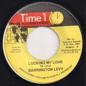 "(7"") BARRINGTON LEVY - LOOKING MY LOVE / VERSION"