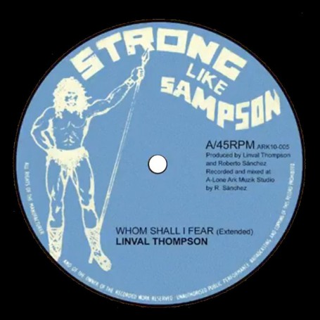 "(10"") LINVAL THOMPSON - WHOM SHALL I FEAR / FYAH INA BABYLON"