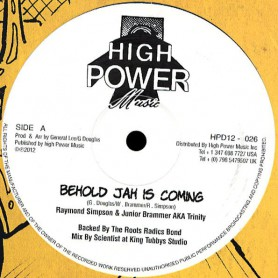 "(12"") RAYMOND SIMPSON & JUNIOR BRAMMER - BEHOLD JAH IS COMING"