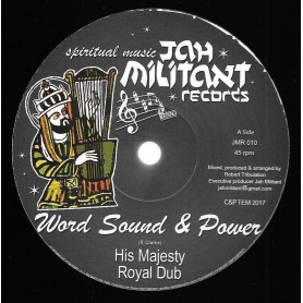 "(12"") WORD SOUND & POWER - HIS MAJESTY / KING PHARAOH - KING DAVID STYLE"