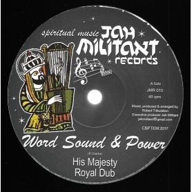"(12"") WORD SOUND & POWER - HIS MAJESTY / KING PHARAOH - KING DAVID STYLE"
