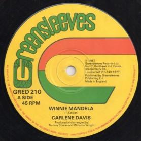 """(12"""") CARLENE DAVIS - WINNIE MANDELA / ONE BY ONE"""
